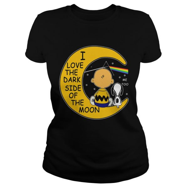 Snoopy and Charlie Brown I love the dark side of the moon lkadeis ete