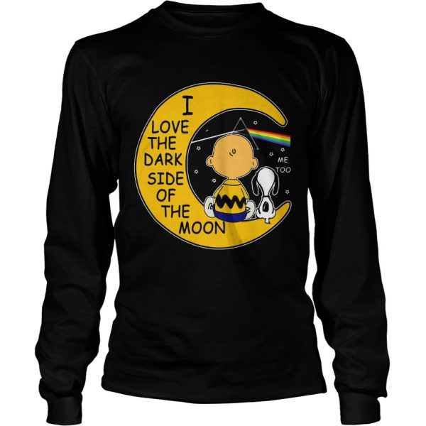 Snoopy and Charlie Brown I love the dark side of the moon longsleeve tee