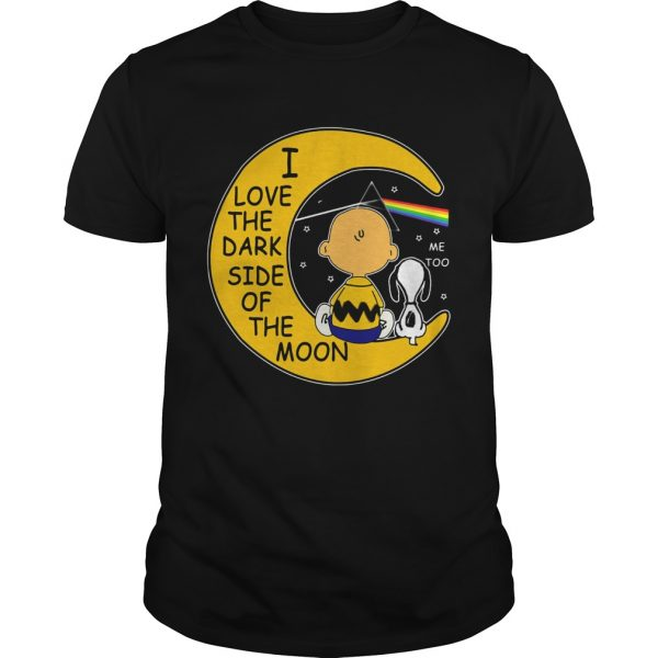 Snoopy and Charlie Brown I love the dark side of the moon unisex