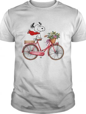 Snoopy on the bicycle shirt