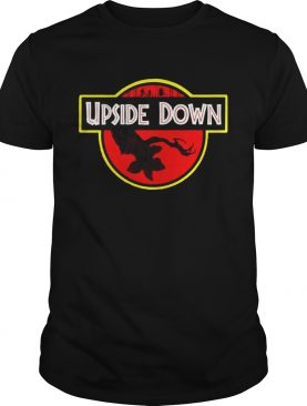 Stranger Things Upside Down Jurassic Park Badge TShirt