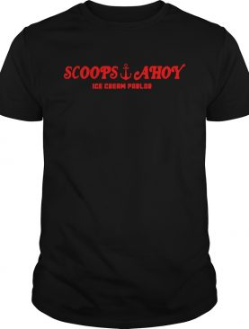 Stranger things Scoops Ahoy ice cream parlor shirt