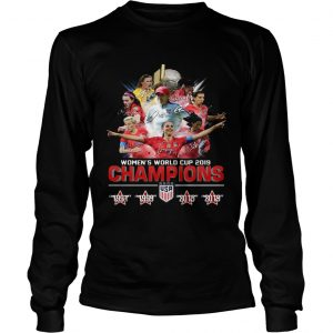 USA Womens world cup 2019 Champions 4 times longsleeve tee