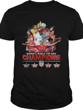USA Womens world cup 2019 Champions 4 times shirt