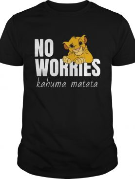 Disney Lion King Classic No Worries Simba Funny TShirt
