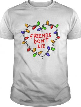 Friends dont lie Stranger Things Christmas Light Wall shirt
