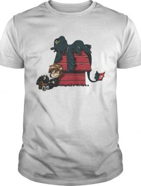 Hiccup with Toothless Peanuts style shirt