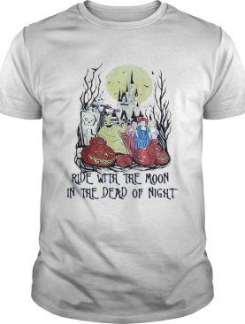 Jack Skellington ride with the moon in the dead of night shirt