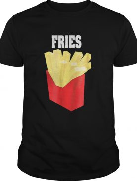 Nice French Fries Couples Halloween Costume BurgerFries shirt