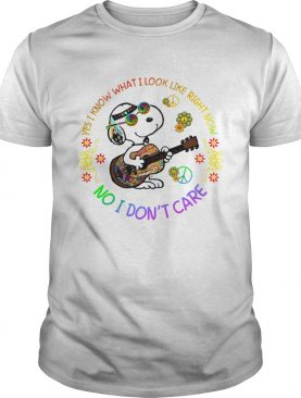 Yes I know what I look like right now no I dont care Snoopy hippie shirt