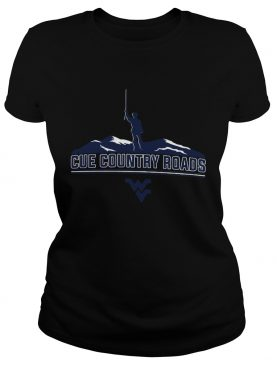 Cue Country Roads Mountaineers shirt
