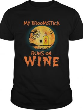 Halloween My broomstick runs on Fireball wine shirt