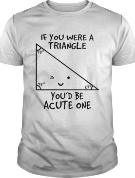 If you were a triangle youd be acute one shirt