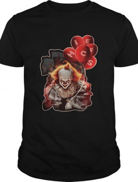It Pennywise holding balloon Kansas City Chiefs shirt