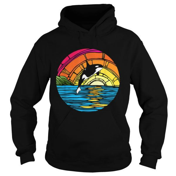 Orca Tees Killer Whale Stained Glass hoodie