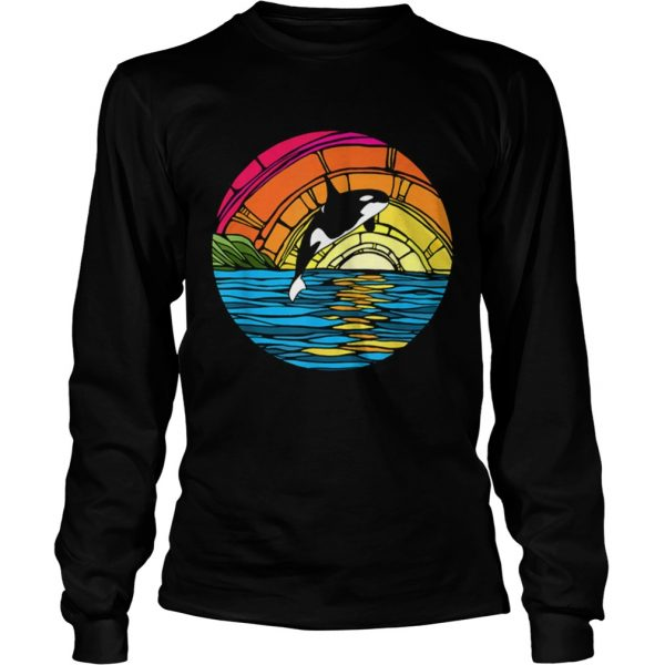 Orca Tees Killer Whale Stained Glass longsleeve tee