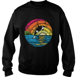 Orca Tees Killer Whale Stained Glass sweatshirt
