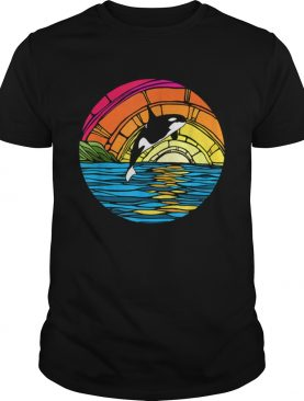 Orca Tees Killer Whale Stained Glass shirt