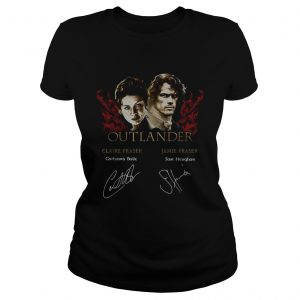 Outlander signature of Claire Fraser Jamie Fraser ladies tee