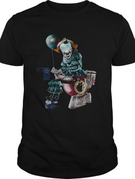 Pennywise Philadelphia Eagles Dallas Cowboys New York Giants Redskins Toilet Shirt