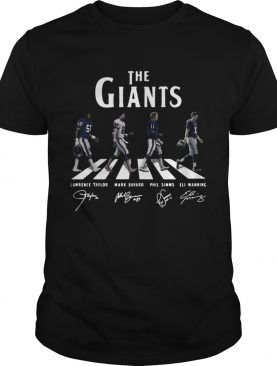 The New York Giants Abbey road signature shirt