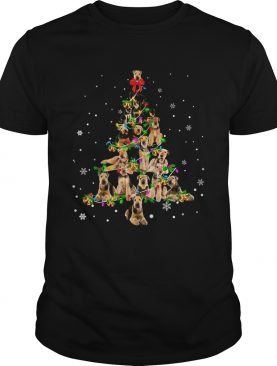 Airedale Terrier Light Christmas tree shirt