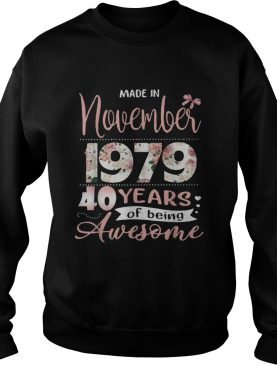 Made in November 1979 40 years of being awesome floral shirt