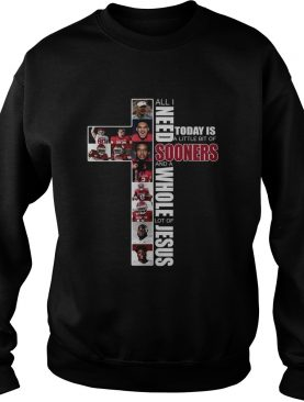 All I need today is a little bit of Sooners and a whole lot of Jesus shirt