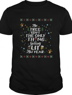 The three isnt the only thing getting lit this year Christmas shirt
