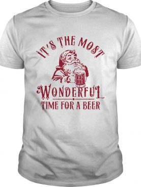Santa Claus It's The Most Wonderful Time For A Beer Shirt