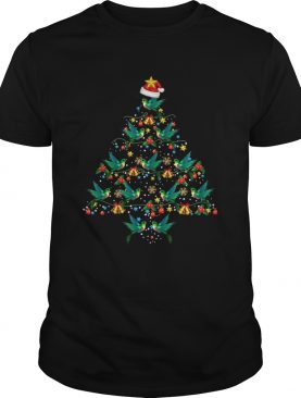 Hummingbirds Christmas Tree Awesome Gift TShirt