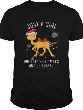 Just A Girl Who Loves Camels And Christmas T Shirt T-Shirt
