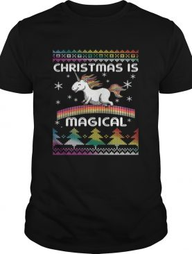 Christmas is Magical T Shirt Funny Unicorn Xmas Shirt T-Shirt