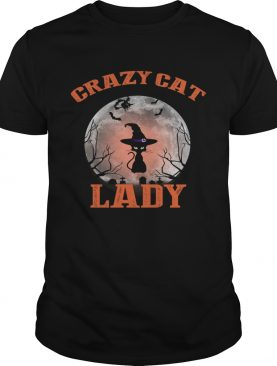 Halloween Crazy Cat Lady Funny Black Cat Lover TShirt