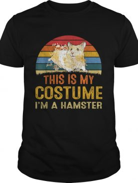 Nice This Is My Costume Hamster Vintage Halloween shirt