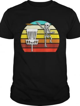 Skeleton Disc Golf Halloween shirt