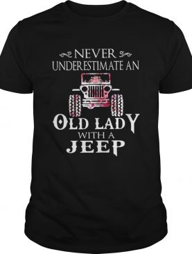 Never underestimate an old lady with a Jeep flower shir