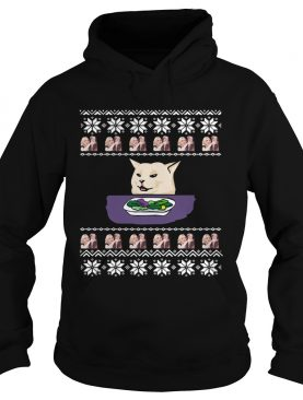 Official Woman Yelling Cat Meme Ugly Christmas shirt