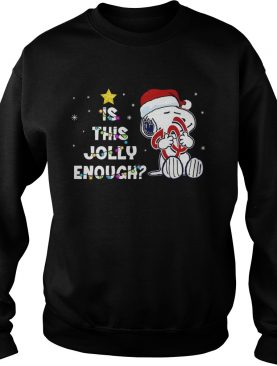 Washington Nationals Snoopy is this jolly enough christmas shirt