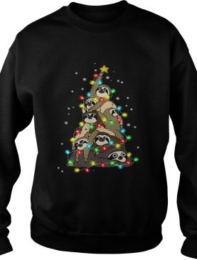 Sloth Merry Christmas Tree shirt
