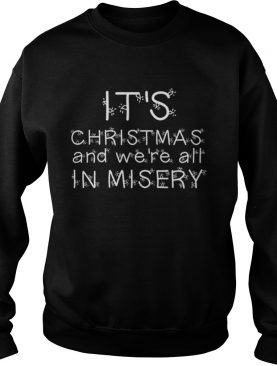 Christmas Vacation T Shirt We're all in misery Clark Griswold Quote Red T-Shirt