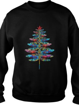 Dragonflies Christmas tree shirt