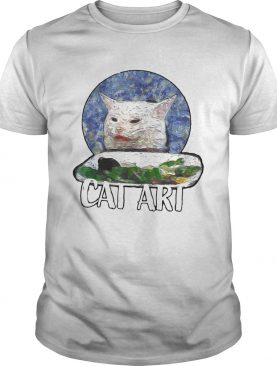 Angry yelling at confused cat at dinner table meme 2020 Tee Shirt