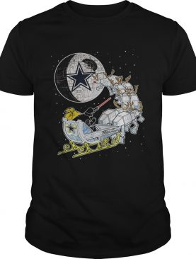 Dallas Cowboy Star Wars Christmas Darth Vader Santa's Sleigh Shirt