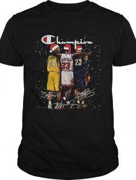 LeBron James Kobe Bryant Michael Jordan Champion Signature Party Shirt