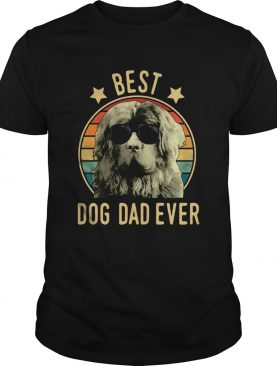 Best Dog Dad Ever Newfoundland Dog Vintage T-shirt