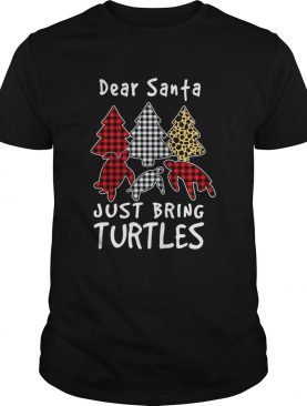 Dear Santa Just Bring Turtles Plaid Christmas Tree – T-shirt