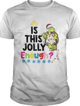 Santa Turtle is this jolly enough christmas shirt