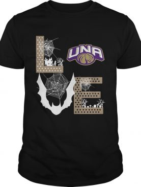 North Alabama Lions Stacked Spiderweb Love shirt