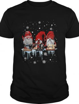 Hanging With Red Gnomies Sewing Machine Christmas Shirt